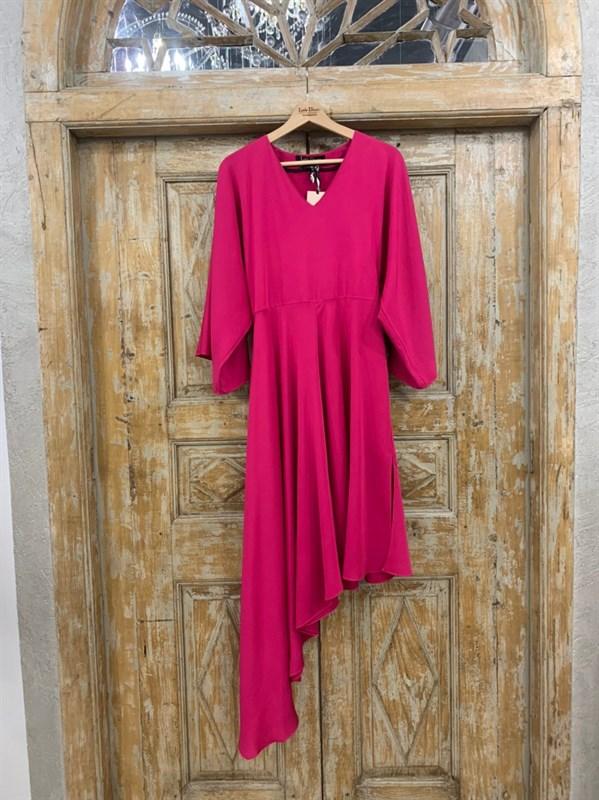 ПЛАТЬЕ вечернее кимоно, юбка ассиметрия по косой - фото 6683