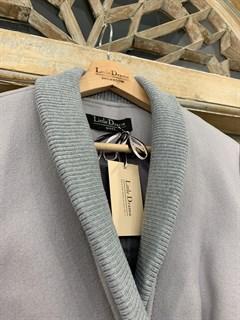 ПАЛЬТО короткое с отделкой ламой с вязаным воротником и подвязами (из шерсти) - фото 10472