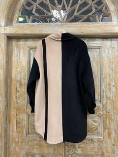 ПАЛЬТО-РУБАШКА двухцветное, из премиальной шерсти - фото 10477