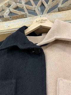 ПАЛЬТО-РУБАШКА двухцветное, из премиальной шерсти - фото 10478