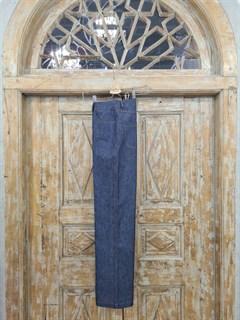 БРЮКИ ШИРОКИЕ ПРЯМЫЕ в ПОЛ  с высокой талией и накладными карманами (джинс) - фото 10511