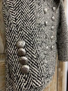 БУШЛАТ из шерстяного твида в елочку (утепленный) - фото 10870