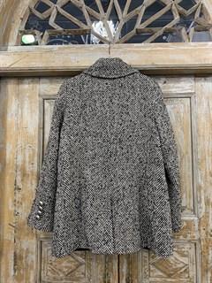 БУШЛАТ из шерстяного твида в елочку (утепленный) - фото 10872