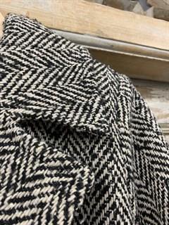 БУШЛАТ из шерстяного твида в елочку (утепленный) - фото 10874