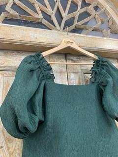 БЛУЗКА пышная, рукава-БУФЫ (из жатой шелковой органзы) - фото 11158