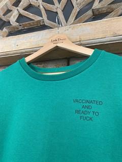 "СВИТШОТ by LION ""Vaccinated and ready to fuck"" (футер, UNISEX)"