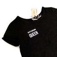 ФУТБОЛКА женская LD-Queen с широким вырезом - фото 4566