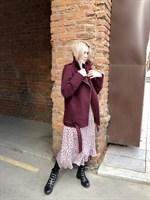 КУРТКА КОСУХА из пальтовой ткани, удлиненная - фото 5355