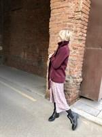 КУРТКА КОСУХА из пальтовой ткани, удлиненная - фото 5356