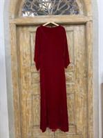 ПЛАТЬЕ КИМОНО-рукава вечернее в пол из бархата с разрезом на спине