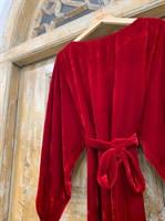 ПЛАТЬЕ КИМОНО-рукава вечернее в пол из бархата с разрезом на спине - фото 6415