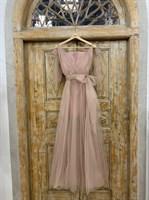 ПЛАТЬЕ вечернее - SWAN - в пол, из фатина на завязках, юбка солнце, с комбинацией - фото 6511