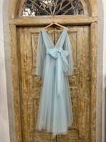 ПЛАТЬЕ вечернее - SWAN - в пол, из фатина на завязках, юбка солнце, с комбинацией - фото 6521