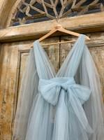 ПЛАТЬЕ вечернее - SWAN - в пол, из фатина на завязках, юбка солнце, с комбинацией - фото 6522