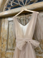 ПЛАТЬЕ вечернее - SWAN - в пол, из фатина на завязках, юбка солнце, с комбинацией - фото 6530