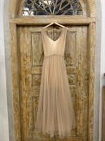 ПЛАТЬЕ вечернее - SWAN - в пол, из фатина на завязках, юбка солнце, с комбинацией - фото 6531