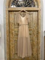 ПЛАТЬЕ вечернее - SWAN - в пол, из фатина на завязках, юбка солнце, с комбинацией - фото 6532