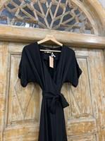 ПЛАТЬЕ на запАхе с рукавами-кимоно, отрезной юбкой полуклеш - фото 6889