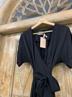 ПЛАТЬЕ на запАхе с рукавами-кимоно, отрезной юбкой полуклеш - фото 6890