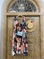 САРАФАН А-силуэт в крупные цветы - фото 6931