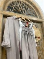 КОСТЮМ ЛЬНЯНОЙ (рубашка свободная и брюки зауженные на резинке с поясом-бант) - фото 6977