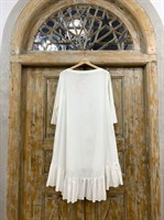 ТУНИКА платье-рубашка свободное с оборкой - фото 7042