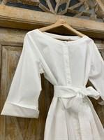 ТУНИКА платье-рубашка свободное с оборкой - фото 7045