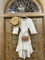 ТУНИКА платье-рубашка свободное с оборкой - фото 7046