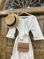 ТУНИКА платье-рубашка свободное с оборкой - фото 7047