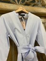 """ПЛАТЬЕ """"рубашка"""" с V-вырезом длинная - фото 7065"""