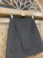 ЮБКА (ТРАПЕЦИЯ, МИНИ, из шерсти, твид в елочку) - фото 7110