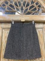 ЮБКА (ТРАПЕЦИЯ, МИНИ, из шерсти, твид в елочку) - фото 7111