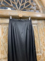 ЮБКА-карандаш (зауженная, высокая шлица) из ЭКО-кожи, длина 77 см - фото 7137