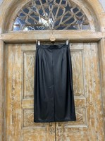 ЮБКА-карандаш (зауженная, высокая шлица) из ЭКО-кожи, длина 77 см - фото 7138
