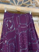 ЮБКА -КОЛОКОЛ с поясом, из принтованного шифона - фото 7207