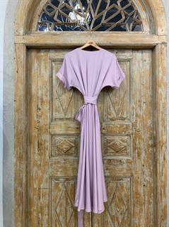 ПЛАТЬЕ на запАхе с рукавами-кимоно, отрезной юбкой полуклеш - фото 7590