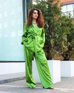 ЖАКЕТ МЯГКИЙ в пижамном стиле (из атласной вискозы-кади) - фото 7906