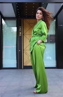 ЖАКЕТ МЯГКИЙ в пижамном стиле (из атласной вискозы-кади) - фото 7908