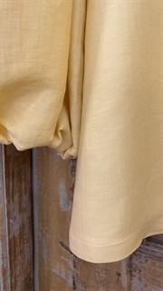 ТОП круизный без плеч, рукава на резинке (премиум ЛЕН) - фото 8090