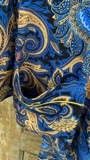 ЖАКЕТ МЯГКИЙ в пижамном стиле (из вискозы в огурцы) - фото 8523