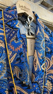 ЖАКЕТ МЯГКИЙ в пижамном стиле (из вискозы в огурцы) - фото 8525