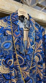 ЖАКЕТ МЯГКИЙ в пижамном стиле (из вискозы в огурцы) - фото 8526