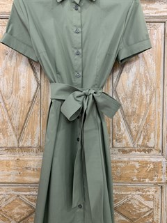 ПЛАТЬЕ-РУБАШКА с рубашечным воротником и юбкой со складками (ЛЕТО) , длина 80 см. - фото 8613