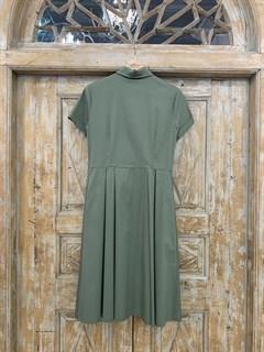 ПЛАТЬЕ-РУБАШКА с рубашечным воротником и юбкой со складками (ЛЕТО) , длина 80 см. - фото 8614