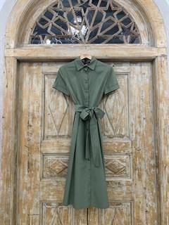 ПЛАТЬЕ-РУБАШКА с рубашечным воротником и юбкой со складками (ЛЕТО) , длина 80 см.