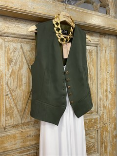 ЖИЛЕТКА для костюма-тройки (из Льна с вискозой) - фото 8632