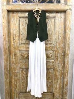 ЖИЛЕТКА для костюма-тройки (из Льна с вискозой) - фото 8633