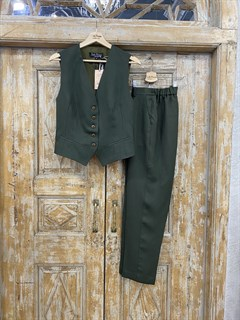 ЖИЛЕТКА для костюма-тройки (из Льна с вискозой) - фото 8643