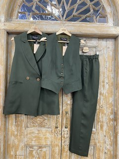 ЖИЛЕТКА для костюма-тройки (из Льна с вискозой) - фото 8644