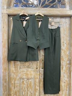 ЖИЛЕТКА для костюма-тройки (из Льна с вискозой) - фото 8647